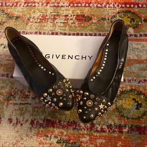 Givenchy Studded Black Flats